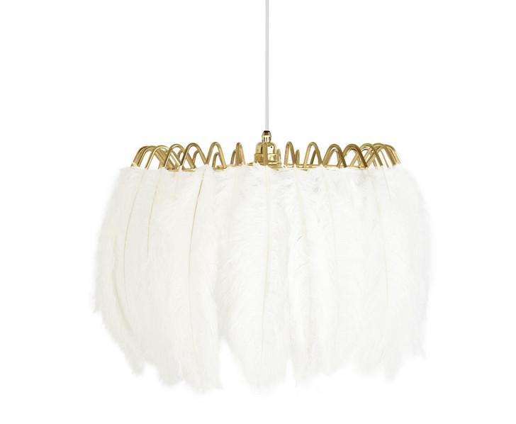 Young and Battaglia Feather Pendant Lamp White