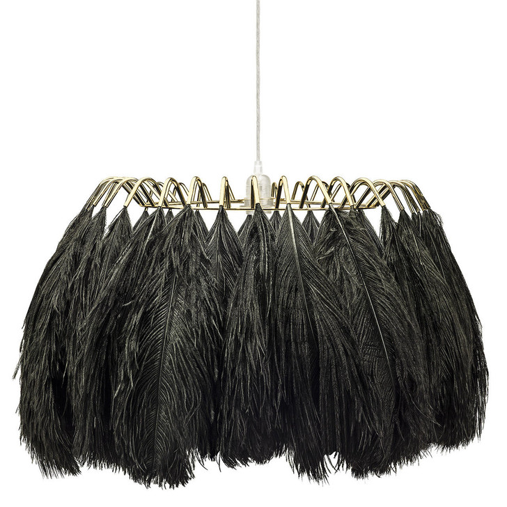 Young and Battaglia Feather Pendant Lamp Black