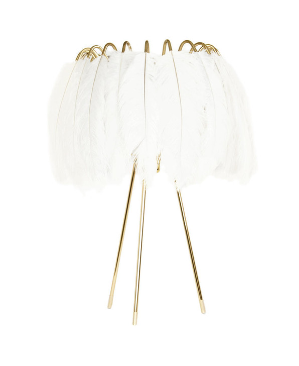 Young and Battaglia Feather Table Lamp White