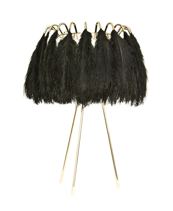 Young and Battaglia Feather Table Lamp Black