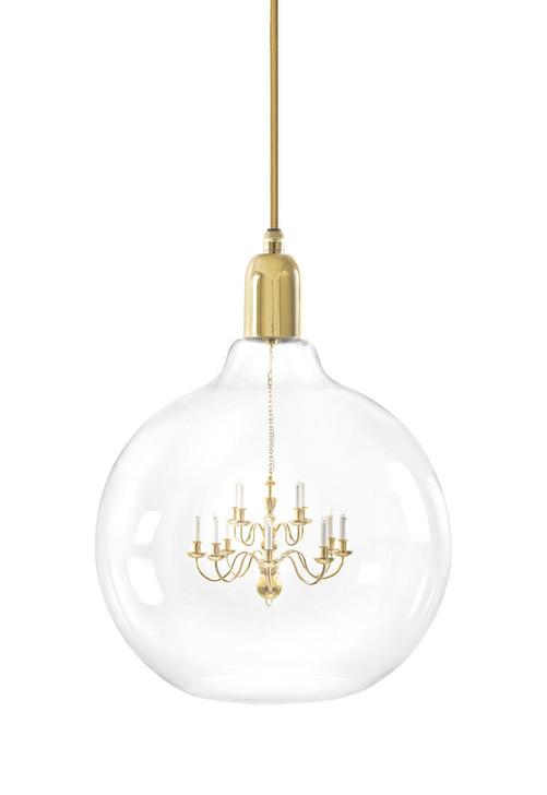 Young and Battaglia Gold King Edison Grande Pendant Lamp