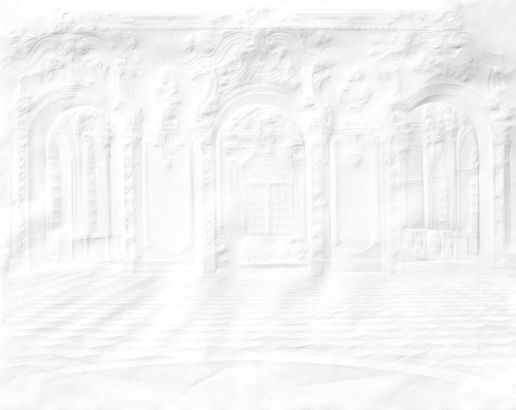 Simon Schubert Paper Palace Folded Hall Wallpaper Mural