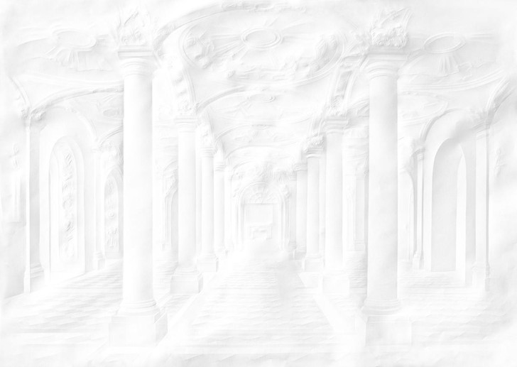 Simon Schubert Paper Palace Folded Columns Wallpaper Mural