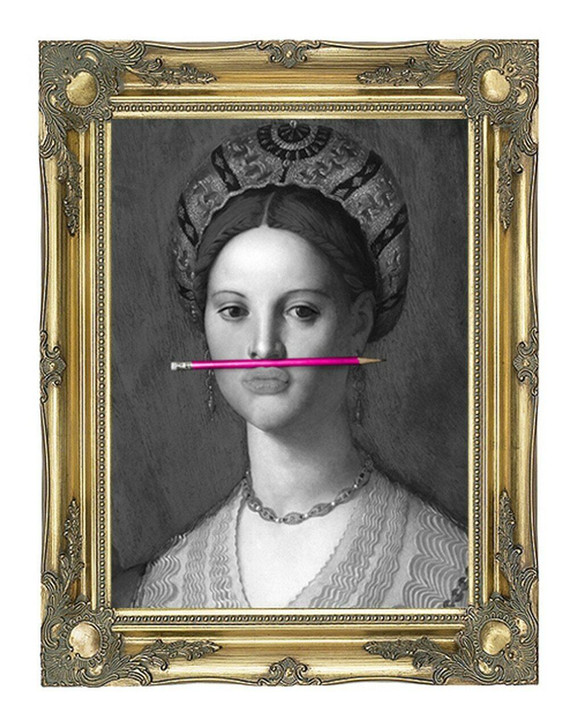 Young and Battaglia The Pink Pencil Canvas