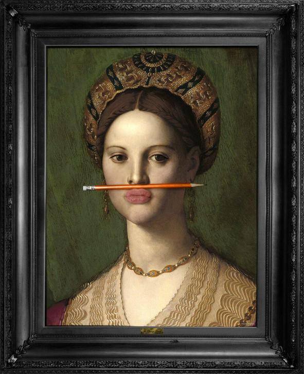 The Orange Pencil Canvas