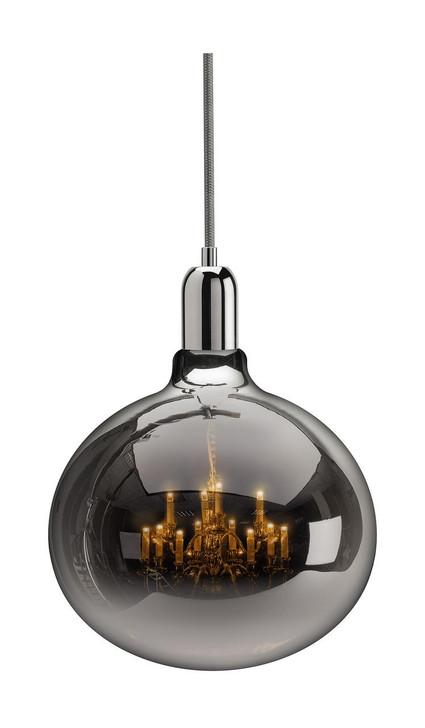 Young and Battaglia King Edison Grande Chrome Pendant Lamp