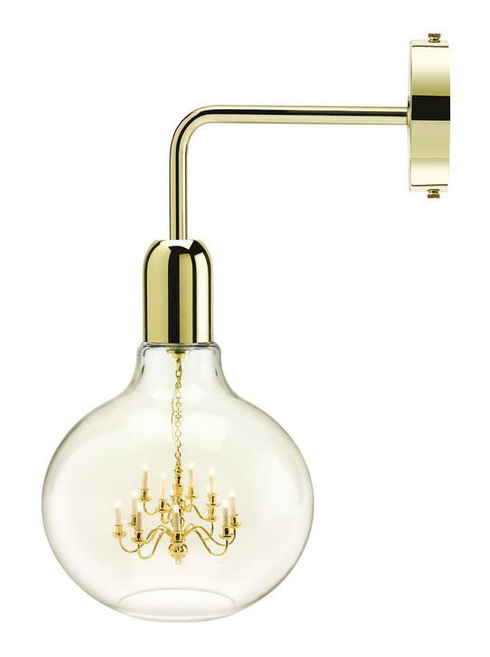 Young and Battaglia Gold King Edison Wall Lamp
