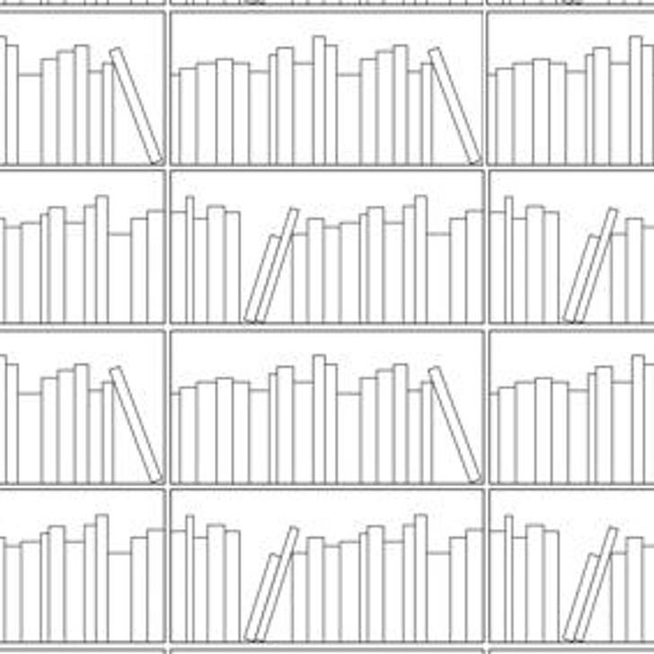 Young and Battaglia Bookshelf Outline Wallpaper