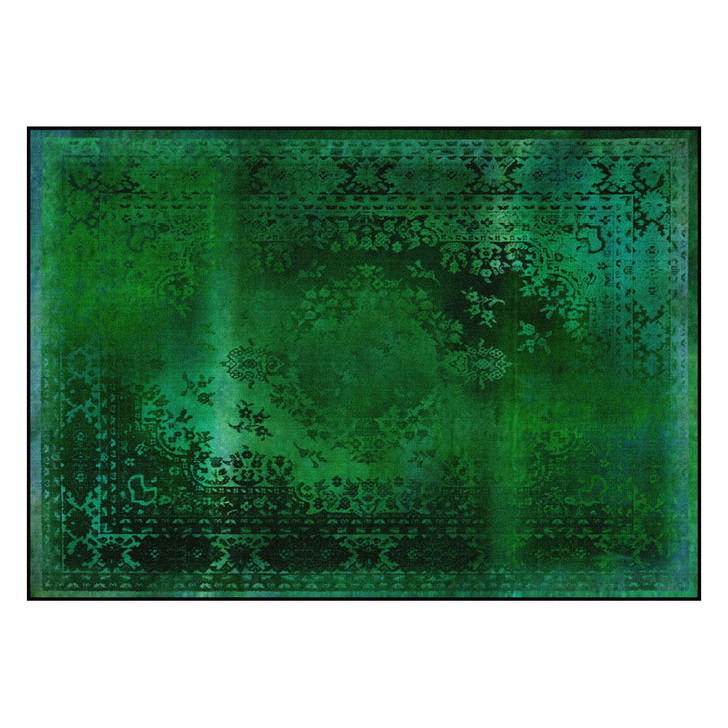 Young and Battaglia Kashan Remix Green Rug