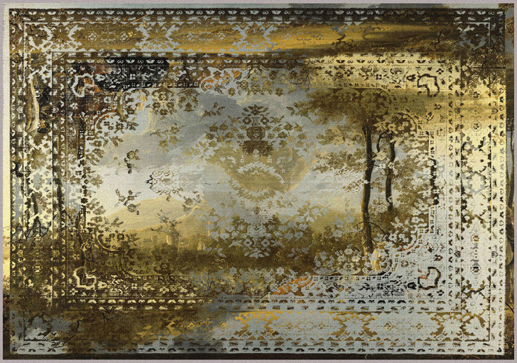 Young and Battaglia Kashan Remix Landscape Rug