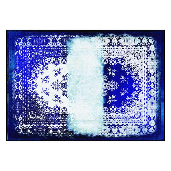 Young and Battaglia Kashan Remix Blue white Rug