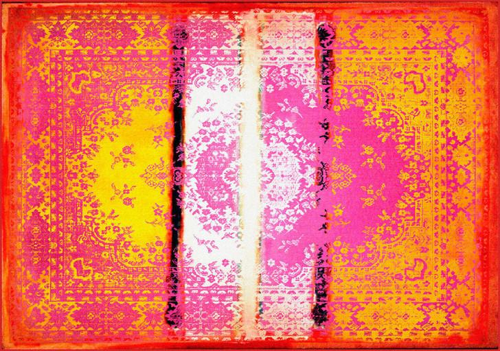 Young and Battaglia Kashan Remix Orange Pink Rug