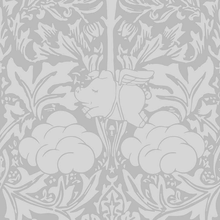 Young and Battaglia Morris Dream - Pebble grey Wallpaper