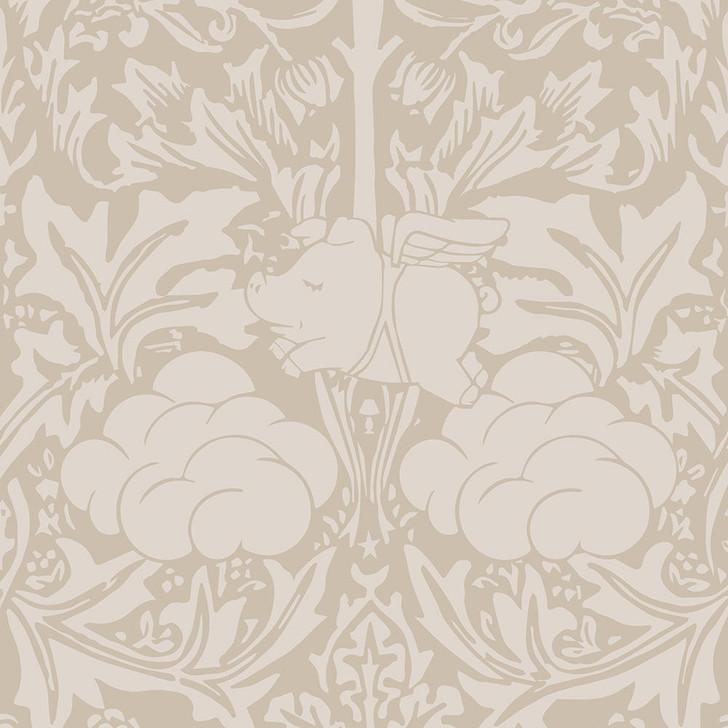 Young and Battaglia Morris Dream - Warm taupe Wallpaper