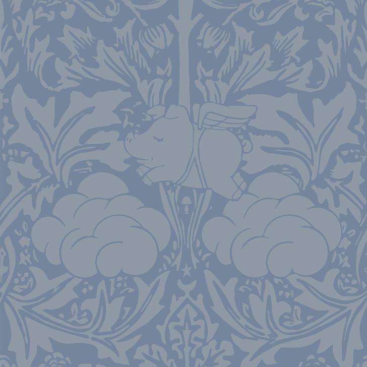 Young and Battaglia Morris Dream - Grey captain blue Wallpaper