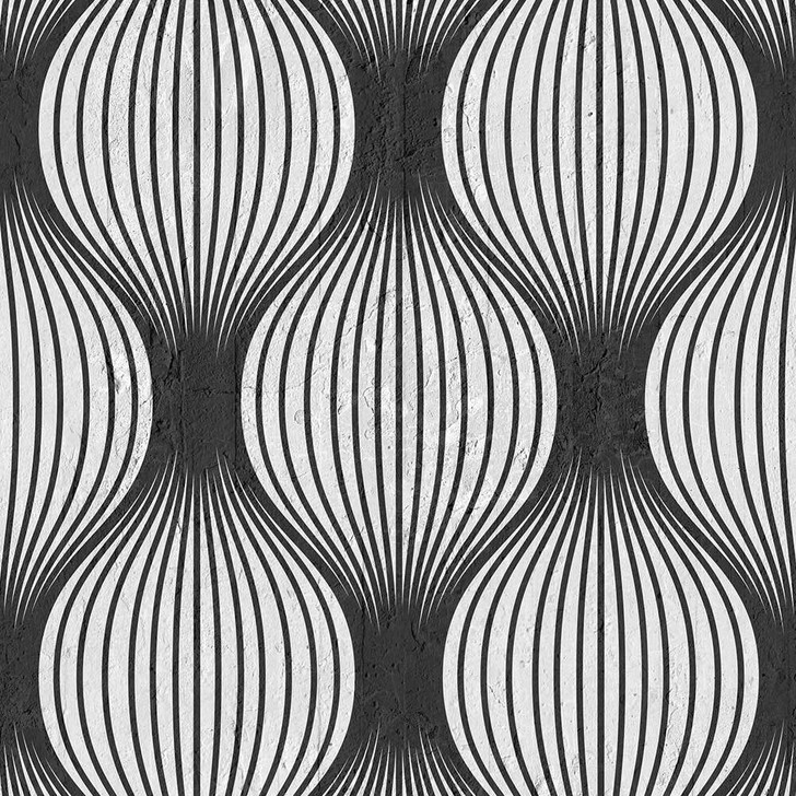 Emanuele Pangrazi Black Geometric Bulbs Wallpaper