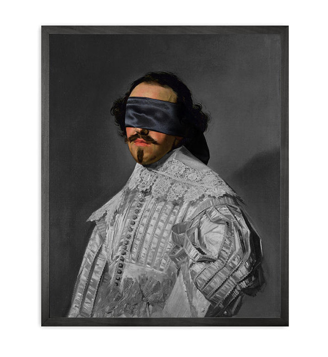 Young and Battaglia Blindfold -5 Framed Printed Canvas