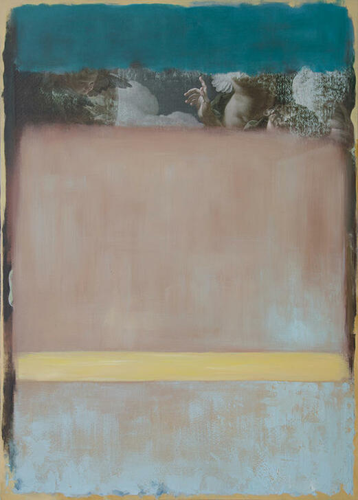 Vincenzo Sgaramella Pointing The Blue Original mixed media painting