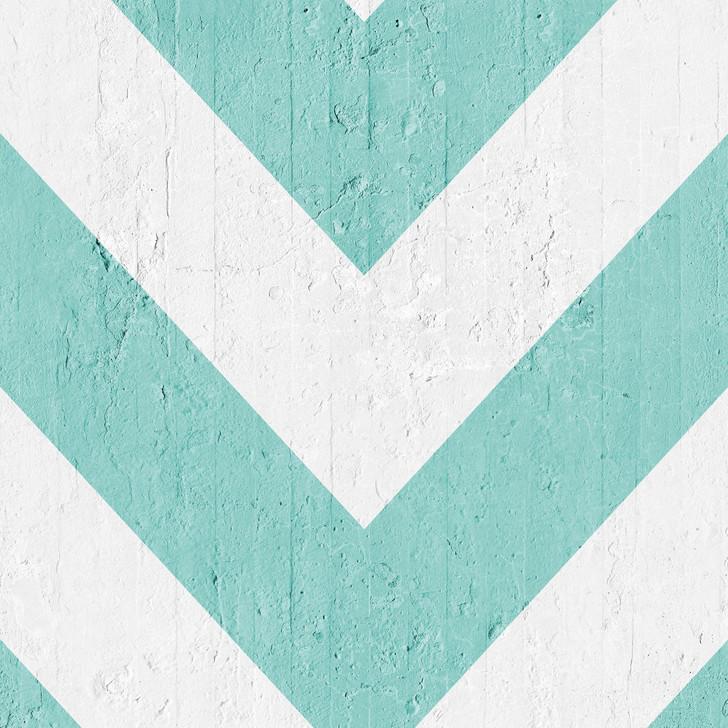 Emanuele Pangrazi Aquamarine Geometric Stripes Wallpaper