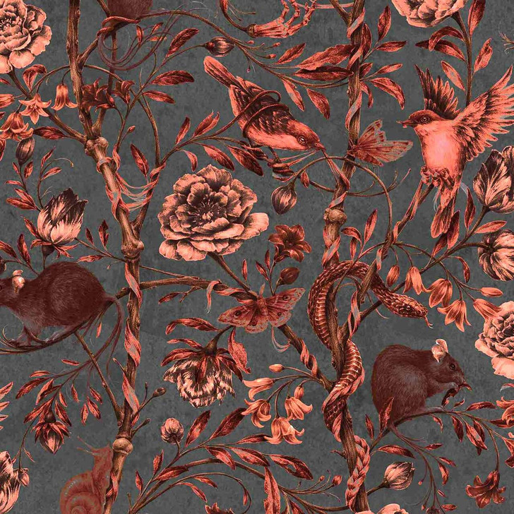 Courtney Brims Back to Nature Red Wallpaper