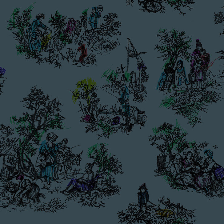 Young and Battaglia Once Upon Our Time wallpaper -Green