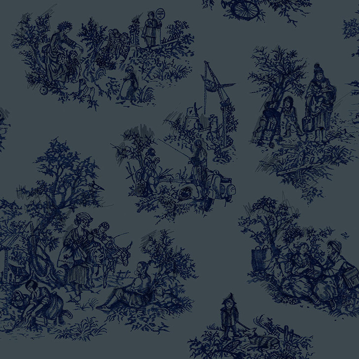 Young and Battaglia Once Upon Our Time wallpaper - Blue and Grey
