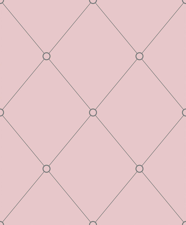 Emanuele Pangrazi Pink and Grey Quilt Outline Wallpaper