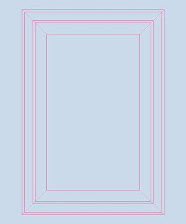 Emanuele Pangrazi Light Blue and Pink Panel Outline Wallpaper
