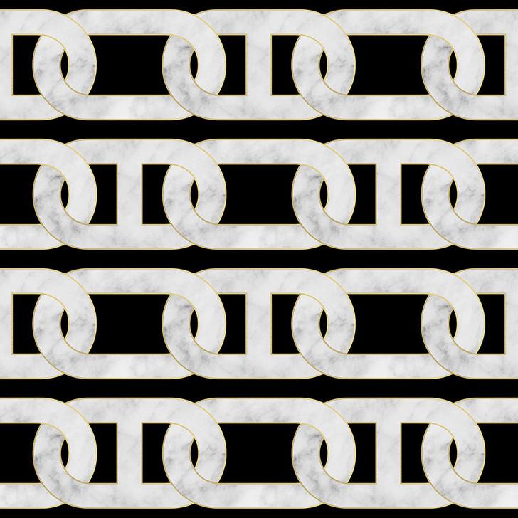 Studio Bleoh Chain Wallpaper- Black