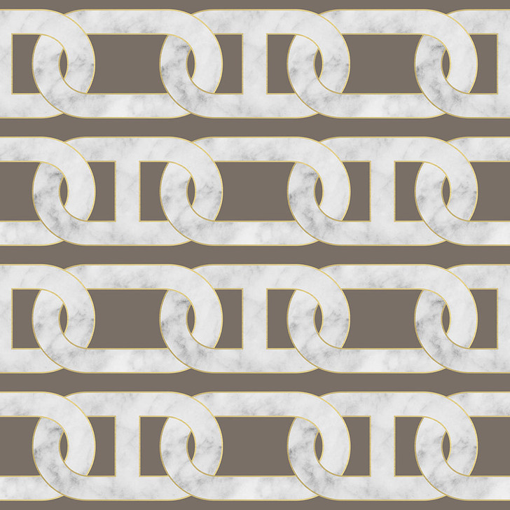 Studio Bleoh Chain Wallpaper- Grey