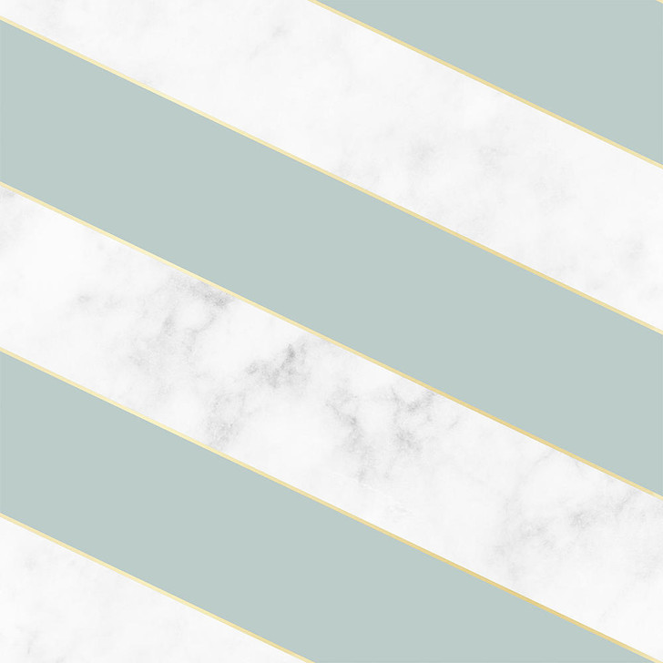Studio Bleoh Diagonal Marble Wallpaper- Green