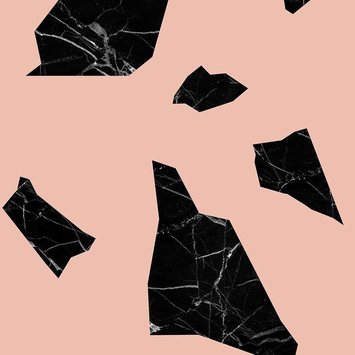 Studio Bleoh Marble fragment wallpaper - Black and Pink
