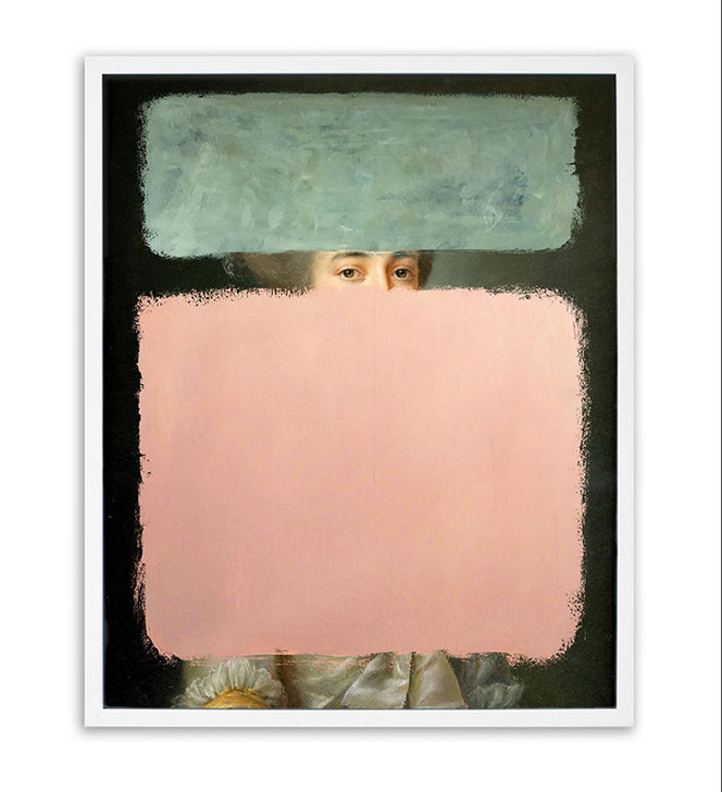 Young and Battaglia Colours- Pink and GreenOriginal mixed media painting