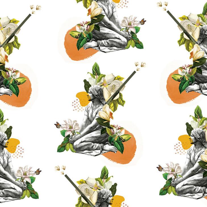Orbeh Studio Orange Saudade Wallpaper
