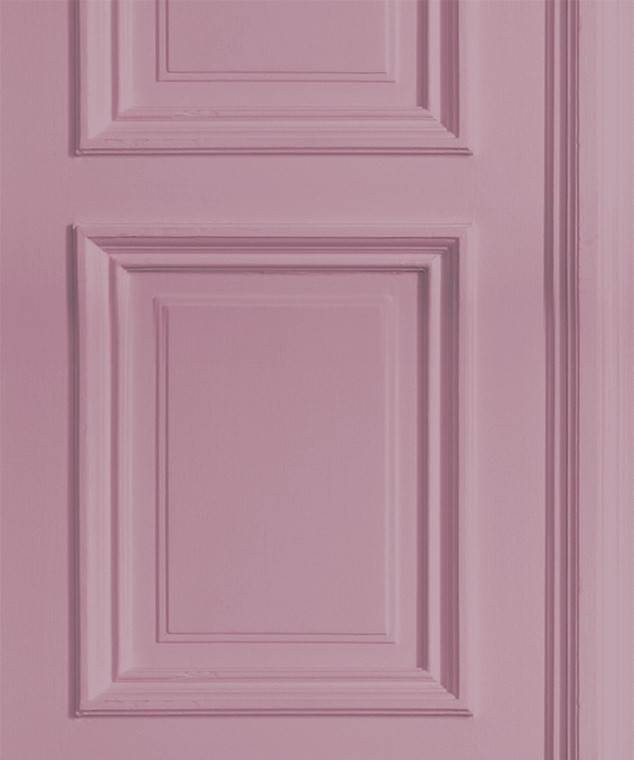 SAMPLE - Dusty Pink Panelling Wallpaper