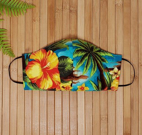 Reusable face mask, filter pocket, washable face mask, dust mask, adult face mask, mouth mask, fabric, cotton face mask, cloth protective mask, hawaiian, aloha, hawaiian face mask, pattern face mask, fashion face mask, summer face mask, washable face mask, made in usa, local
