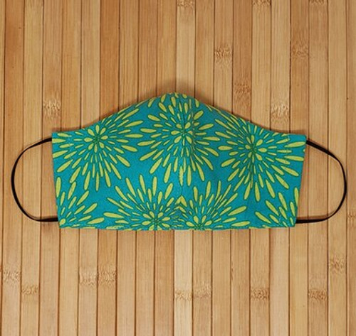 Teal, Yellow, Face Mask, Green, Fashion, Pattern, Chic Face Mask, Multi Color Face Mask, Summer, reusable face mask, washable face mask,  womens face mask, summer face mask, breathable, affordable face mask, face mask with elastic, adjustable face mask, fashion face mask, trendy, chic,