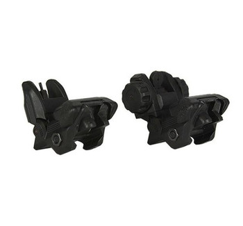 .223 5.56 Tactical Polymer Front And Rear Flip Up Sight Set