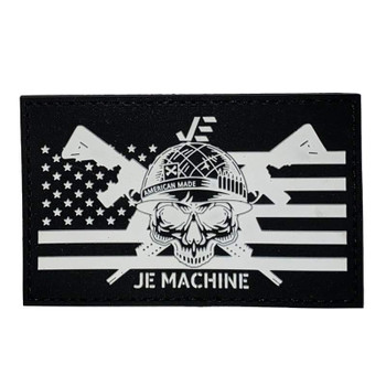JE MACHINE TECH Flag Tactical Hook Backing Patch (2D PVC Rubber)
