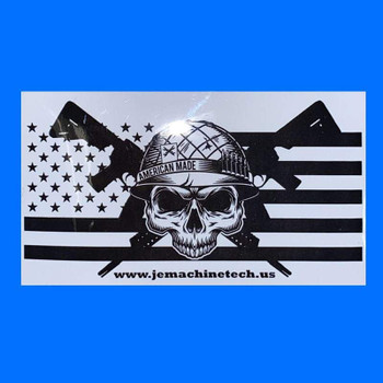 JE MACHINE TECH Flag Tactical Logo Sticker Decal
