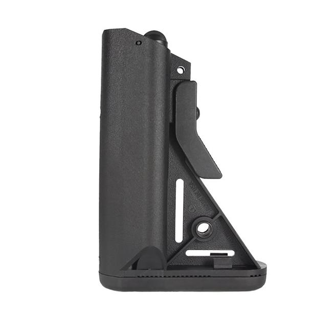 Featureless AR SOPMOD Mil-Spec Standard Pinned Buttstock - Black/FDE Tan