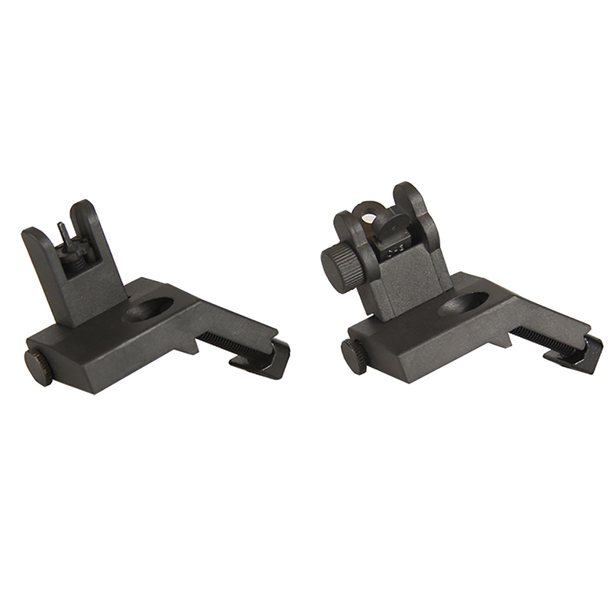 45 Degree Offset Flip Up Sight Kit - Black