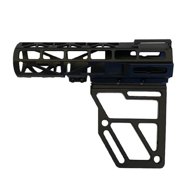 Skeletonized Pistol Brace Stabilizer, Black Anodized Aluminum
