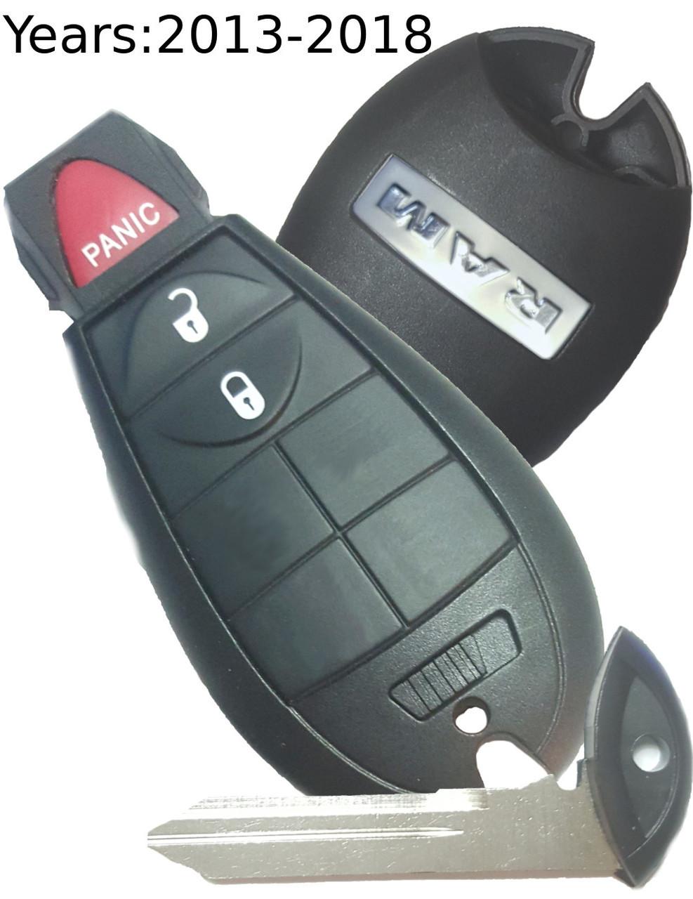RAM Ram 1500 , Ram 2500 , Ram 3500 , Ram 1500 Classic 56046953 GQ4-53T 1470A-35T Key - Fob / Remote
