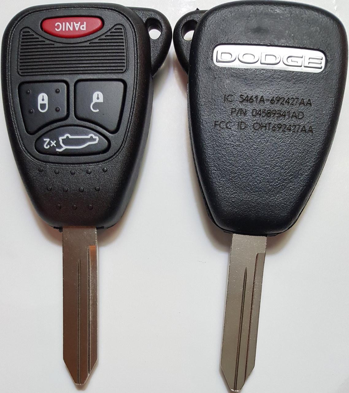 Dodge Durango , Avenger , Charger 04589341 , 68092978 , 05179512 , 05191964 OHT692427AA 5461A-692427AA Key - Remote Head