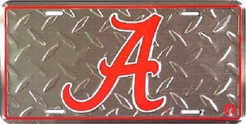 "Alabama Crimson Tide NCAA ""Diamond"" License Plate"