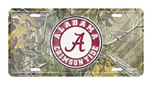Alabama Crimson Tide NCAA Camo License Plate