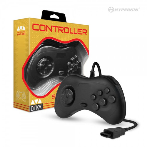 Cirka Controller for Sega Saturn (Black) - CirKa