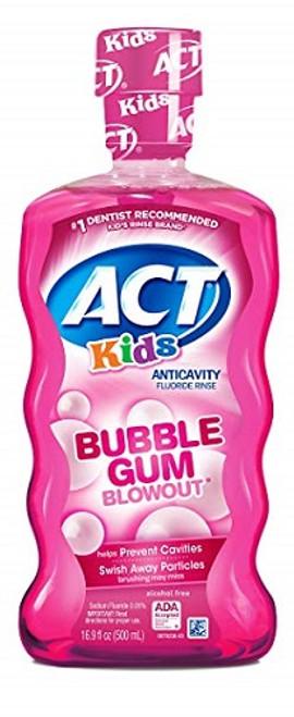 ACT Kids Anti-Cavity Bubblegum Blowout Fluoride Mouthwash