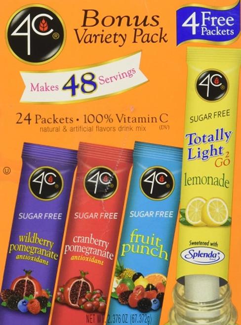 4C Totally Light to Go Sugar Free Bonus Variety Pack Drink Mix